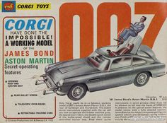 """Corgi,"""" Marcel van Cleemput, died this week at the age of You may not have heard of him, but you have more than likely played with his creations.As chief designer at Corgi Toys from 1956 . James Bond Cars, Aston Martin Lagonda, Corgi Toys, Toy Collector, Lectures, Tin Toys, Toys For Boys, Vintage Toys, Childhood Memories"""