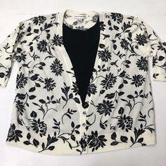 e937a0c7e6c Women s Plus Size 3X Cathy Daniels Floral Print 3 4 Sleeve Sweater Blouse   CathyDaniels