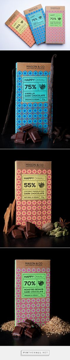 Mason & Co Diwali chocolate by Impprintz Graphic Design Studio.Source: Behance. Pin curated by #SFields99 #packaging #design