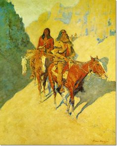 Frederic Remington - The Unknown Explorers 1908 Painting