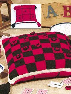 Knitting - Toy Knitting Patterns - Game Pillow