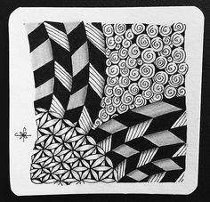 Square One: Purely Zentangle FB page - Jonqal | by ZChrissie