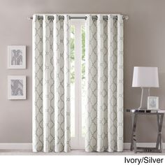 Transform your living space with this beautiful curtain panel by Madison Park. Constructed from a polyester and cotton blend, this panel is available in multiple colors and sizes and features a stylis
