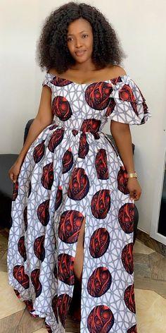 African Maxi Dresses, Ankara Skirt And Blouse, Ankara Dress Styles, African Attire, African Tops, African Lace, Cord Lace Styles, African Print Fashion, Ideias Fashion