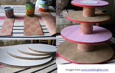cardboard carnival DIY | DIY~ Happy Cake Stand + Circus Party Inspiration // Hostess with the ...