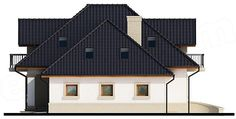 Elewacja prawa projektu Dandys 1 G2 Home Fashion, Cabin, Mansions, House Styles, Home Decor, Decoration Home, Manor Houses, Room Decor, Cabins