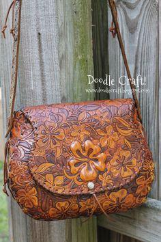 Doodle Craft...: Hawaiian Hibiscus Leather Purse!