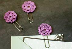Crochet Flower Paper Clips - Petals to Picots