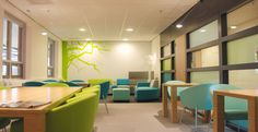 personeelsruimte Student Lounge, Conference Room, Divider, Table, School Stuff, Furniture, Home Decor, School, Spaces