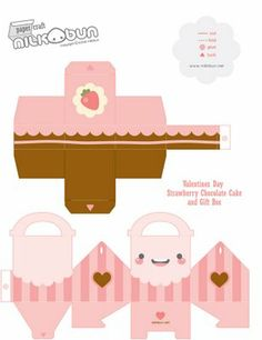 Packaging of the World: Creative Package Design Archive and Gallery: DIY Valentines Cake + Cake Box by milkbun