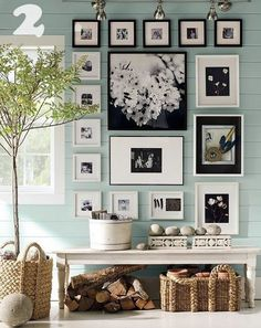 wall collage...love everything about this picture!