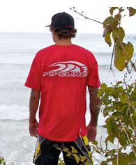 AUTHENTIC PIPELINE® WAVE RED LOGO TEE  Code: P110-1436-RED  Price: $15.95 http://www.banzaipipeline.com/PIPELINE/product/Guys-Tees/P110-1436-RED.html