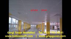 Gergi Tavan Modelleri | Trabzon Tavan Dekorasyon | Metal Asma Tavan | Ta...