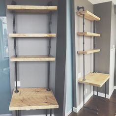 Check out this old pine work deskshelf we've built for a customer 1688 Queen Street West Toronto Custom Furniture Inquiries: email info@contrastliving.com de contrast_living