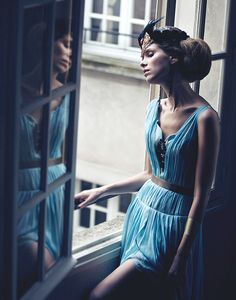 """""""Waiting In The Wings"""" - Zink Magazine by Benjo Arwas with  Christine Aimée"""