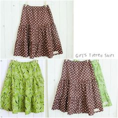 Girls Tiered Skirts - Free Pattern!