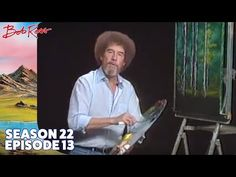 Take a leisurely stroll with Bob Ross and gather your thoughts in the quiet misty woodlands; this lovely masterpiece is a great lesson in using the knife. Acrylic Tutorials, Art Tutorials, Painting Tutorials, Bob Ross Youtube, Robert Ross, Bob Ross Paintings, The Joy Of Painting, Deer Silhouette, Forest Landscape