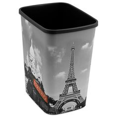 Decorative Paris Trash Can - BedBathandBeyond.com