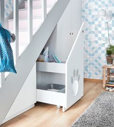 Discover recipes, home ideas, style inspiration and other ideas to try. Hidden Toilet, Pet Station, Hall Furniture, Think Small, Basement Stairs, Under Stairs, Toddler Bed, New Homes, Inspiration