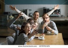 Carefree funny millennial friends taking group selfie on smartphone together at meeting, happy excited diverse young students making photo on cellphone hanging in cafe having fun celebrating reunion Have Fun, Smartphone, Students, Selfie, Group, Friends, Celebrities, Funny, Happy