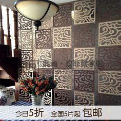 Fashion wool reredos fashion chinese style console door hanging soft brief partition walls US $35.88