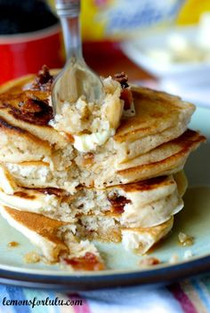 Cinnamon Pancakes with Candied Bacon