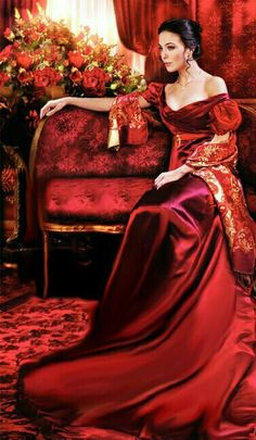 Romance Novel cover - lady in red