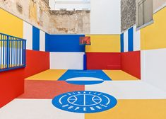 Pigalle Basketball Court by Ill Studio Pigalle Basketball, Basketball Court, Basketball Tickets, Sports Court, Parisian Apartment, Paris Apartments, Ill Studio, Pigalle Paris, Murphy Bed Plans