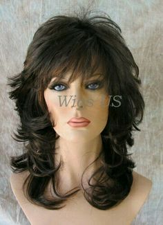 Layered Haircuts With Bangs, Hairstyles With Bangs, Layered Hairstyles, Medium Hair Styles, Curly Hair Styles, Medium Layered Hair, Medium Brown, Layered Cuts, Mid Length Hair