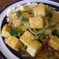 Tofu et petits légumes braisés