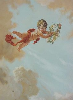 Renaissance Kunst, Renaissance Paintings, Angel Aesthetic, Aesthetic Art, Angel Wallpaper, Ceiling Murals, Classic Paintings, Classical Art, Angel Art