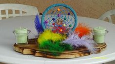Rainbow Dream Catcher candle holder