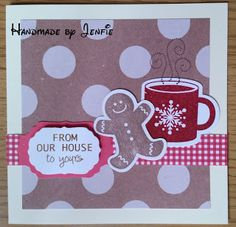 Handmade by Jenfie - Stampin' Up Scentsational Season Gingerbread Man Cherry Cobbler Coffee Mug Craftwork Cards Greetings Christmas Papers