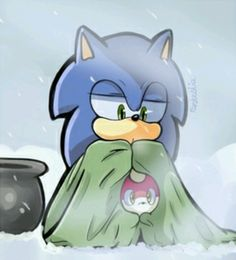 Sonic and chip (so cute ^.^)