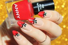 Awesome Apple Red Nail Art Style for Teens and Tweens