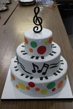 Great Wedding Cakes Birthday Music White Glaze Cake Central Themed