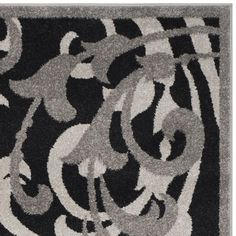 Charlton Home Neil Anthracite/Light Gray Area Rug Rug Size: 6' x 9'