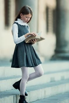Little Girl Skirts, Little Girl Outfits, Cute Girl Outfits, Girly Outfits, Kids Outfits, Toddler School Uniforms, School Uniform Outfits, Girls Uniforms, Police Uniforms