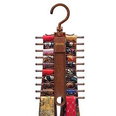 Dan could use a couple of these -- Tie Rack Hanger with Non-Slip Clips Tie Storage, Storage Ideas, Tie Organization, Tie Rack, Tie Crafts, Tiny Apartments, Hanging Organizer, Master Closet, Do It Yourself Home