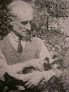 Maurice Ravel ve kedisi Mouni