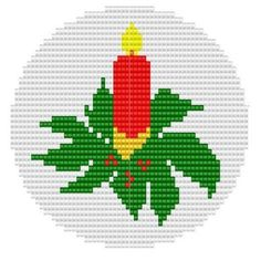 Ornament One Candle, pattern for loom or brick/ peyote Cross Stitch Fruit, Xmas Cross Stitch, Cross Stitch Flowers, Cross Stitch Embroidery, Christmas Perler Beads, Cross Stitch Christmas Ornaments, Christmas Cross, Cross Stitch Pattern Maker, Cross Stitch Patterns