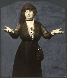 Mrs. Harriet Stanton Blatch. When suffragists returned from the White House, when Pres[ident] Wilson declared he would receive no more suffrage deputations, Mrs. Blatch called for volunteers to join her on a picket line to stand each day before the White House until he came out for suffrage.