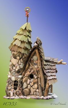 I love how this tower just nestles up to the house!