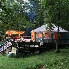 Yurt Living, Outdoor Living, Outdoor Rooms, Living Spaces, Yurt Interior, Yurt Home, How To Build A Log Cabin, Outdoor Kitchen Design, Outdoor Kitchens