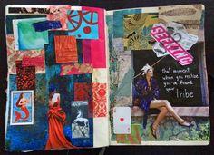 @dansmoncrane | Season of Love | Get Messy Art Journal