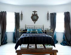 blue & grey bedroom