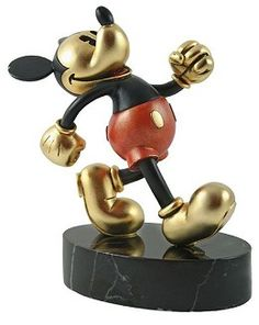 Disney Chilmark Mickey on Parade - MetalART #DisneyChilmark #Art. Energetic Mickey struts down the lane without a care in the world. You can almost hear him whistling - always cheerful and carefree. Crafted in pewter and hand-detailed at Chilmark's Massachusetts foundry with the exclusive MetalART™ process, Mickey is modeled in the antique-style right down to his hose-style legs and pie-eyes and mounted on a marble base.
