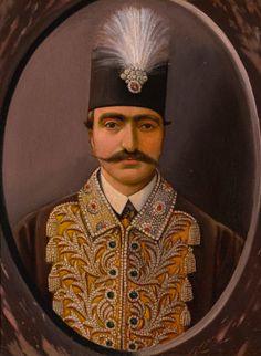 A portrait of Nasir al-Din Shah (r.1848-96), Persia, Qajar, 19th century