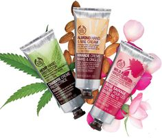 BODY SHOP--Love the Almond scented.