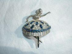 vintage jonette jewelry j.j. sapphire by qualityvintagejewels, $48.00